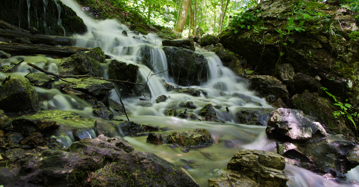beautiful waterfall to signify river of giving