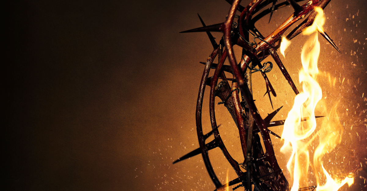 crown of thorns of fire to signify church ignoring hardest issues