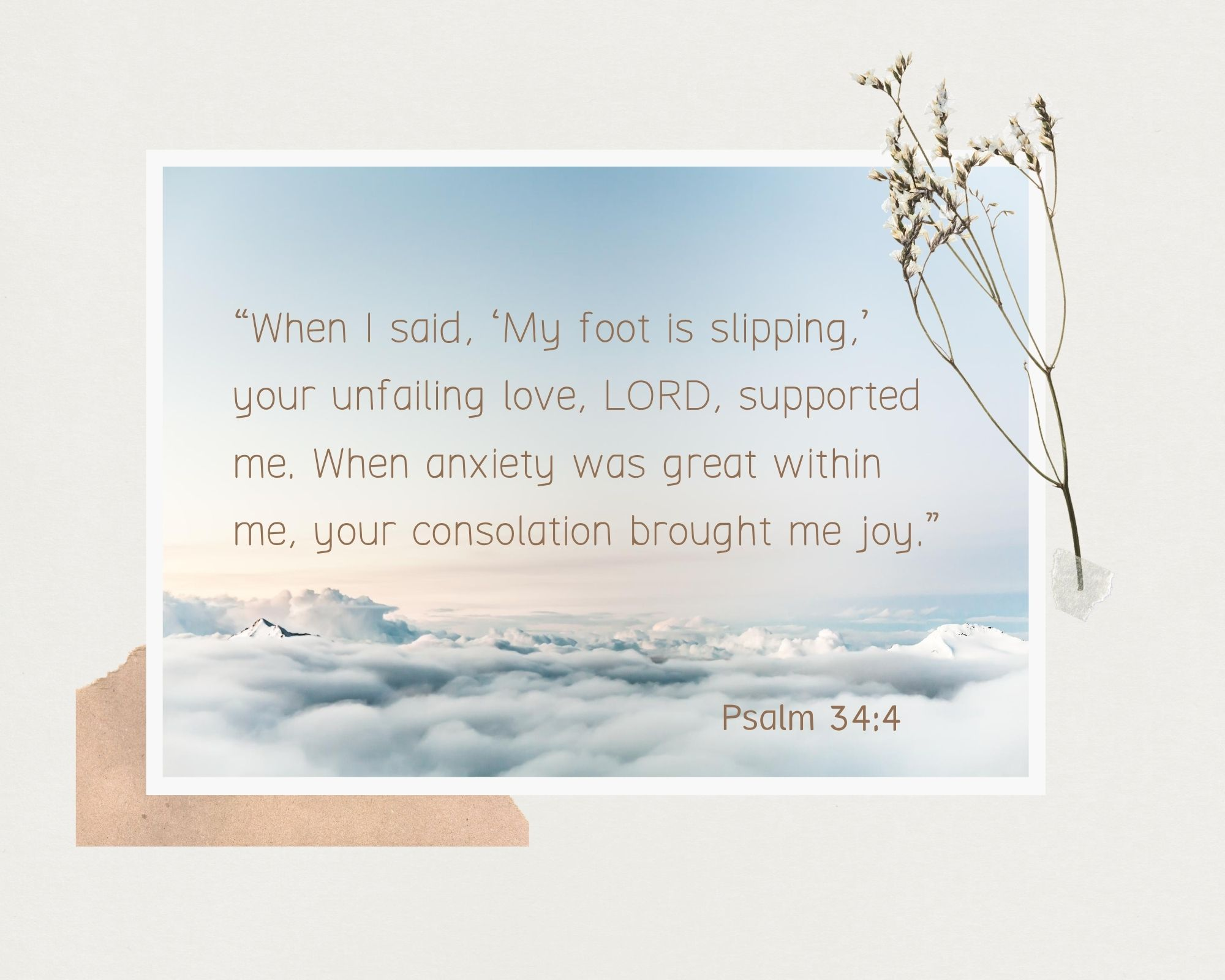 Psalm 34:4 bible verse anxiety worry