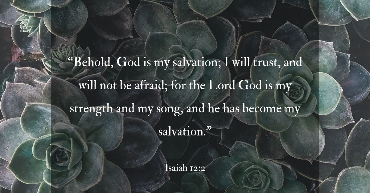 isaiah 12:2 bible verse trusting god with worry