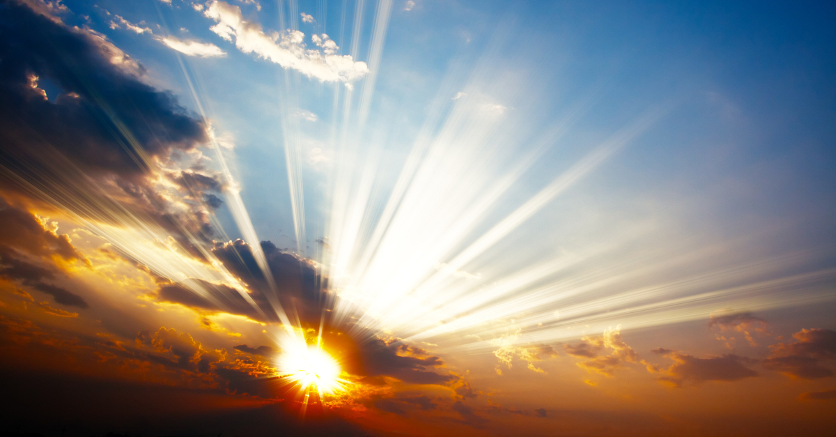 sun bursting through clouds looking like heaven 1200 x 627