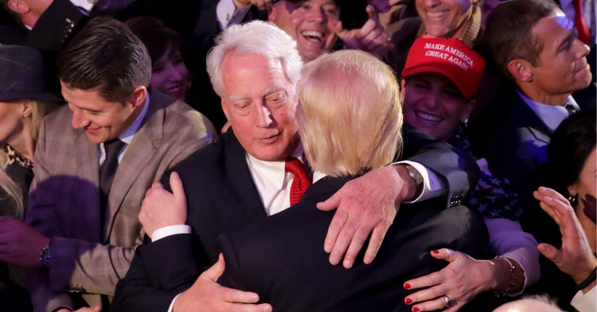 Robert Trump hugging Donald Trump, Robert Trump dies at age 71