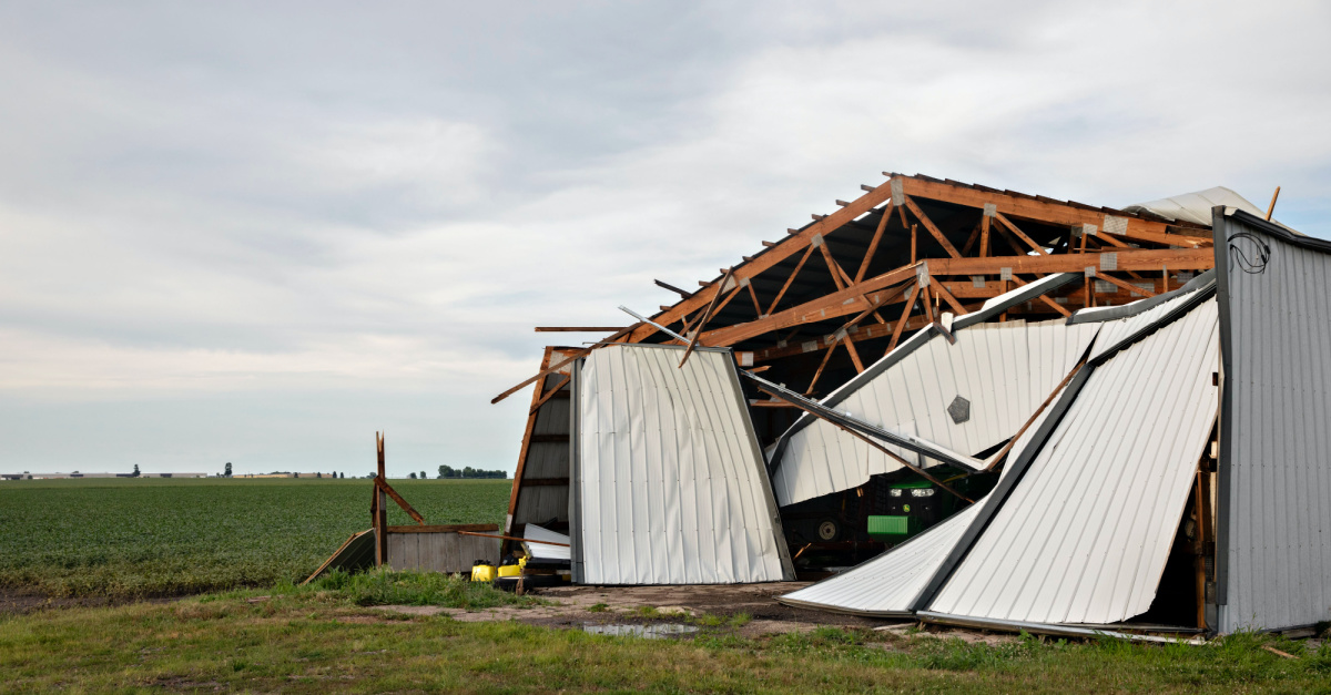 A destroyed barn, Trump sends relief to Iowa following windstorm