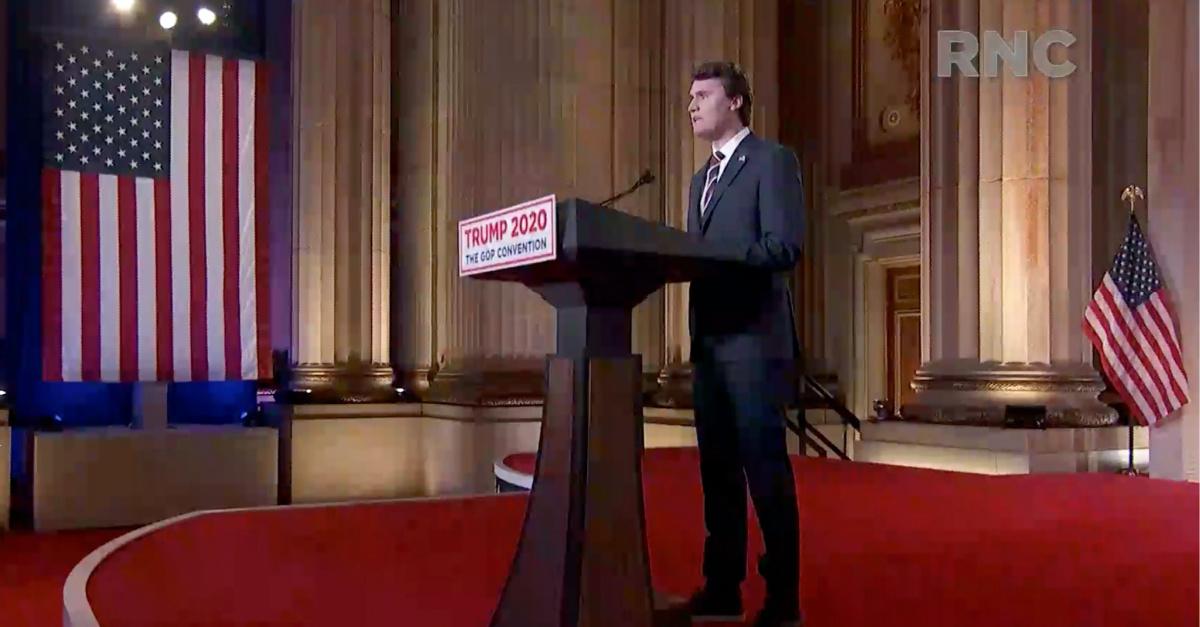 Charlie Kirk speaking at the RNC