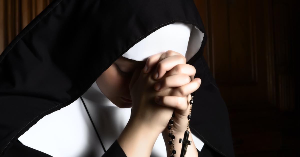 A nun holding a rosary