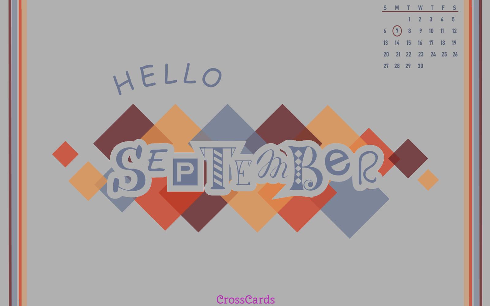 September 2020 - Hello September mobile phone wallpaper