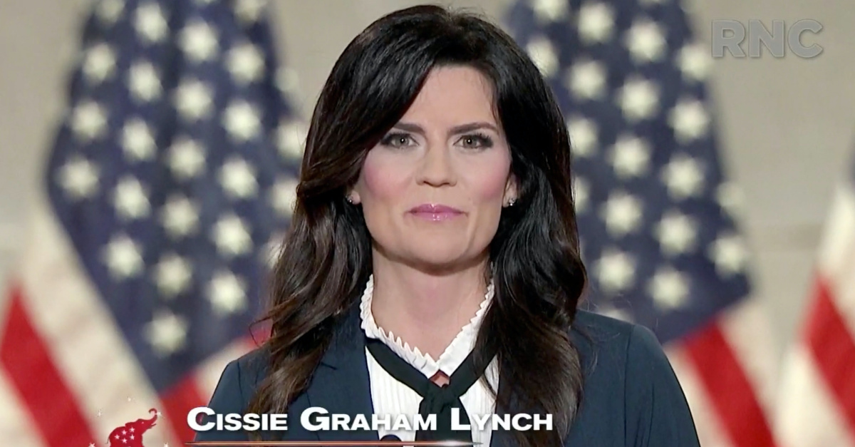 Cissie Graham Lynch, Cissie offers her endorsement of Donald Trump at the RNC