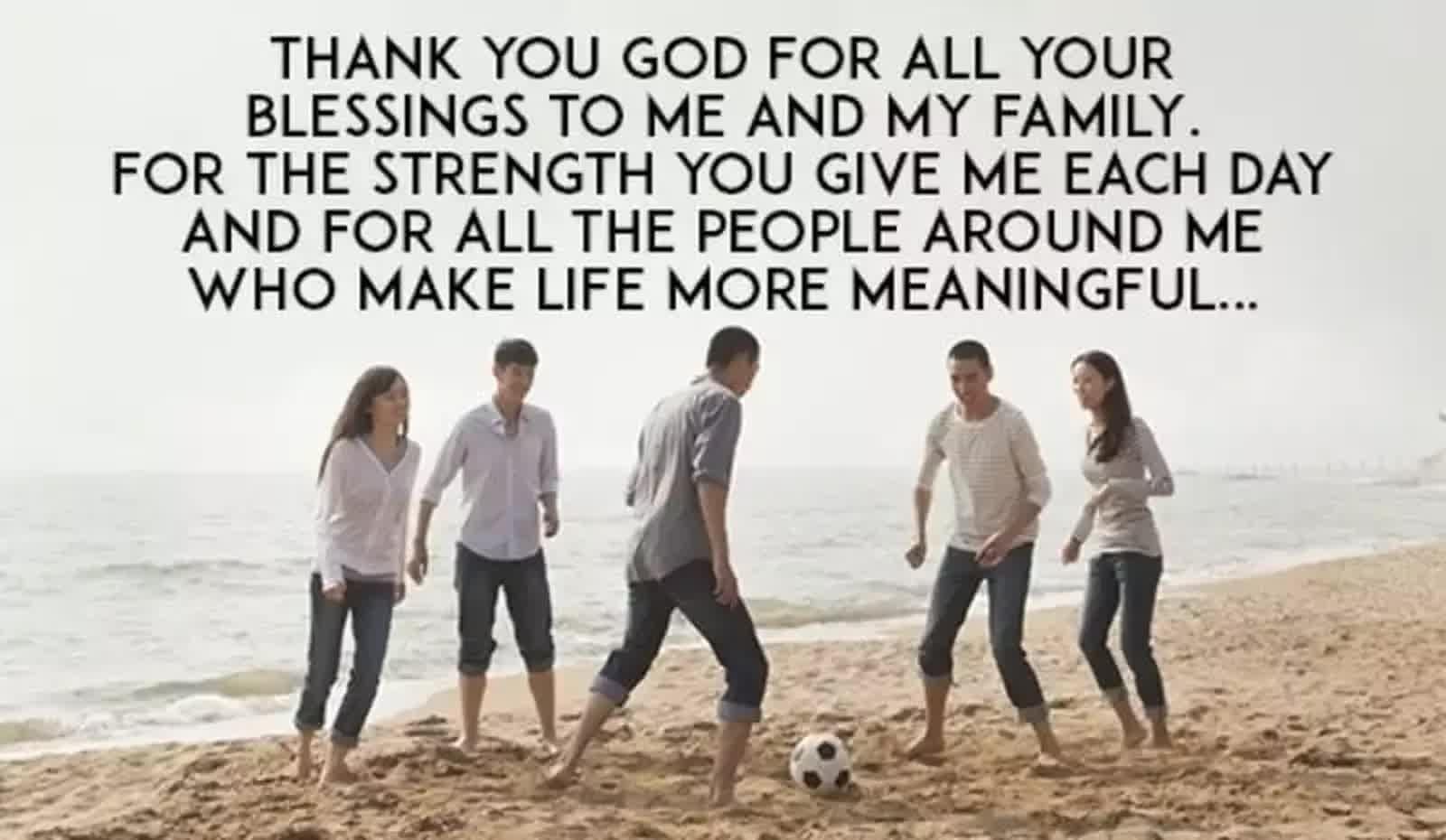 short thanksgiving prayer for family