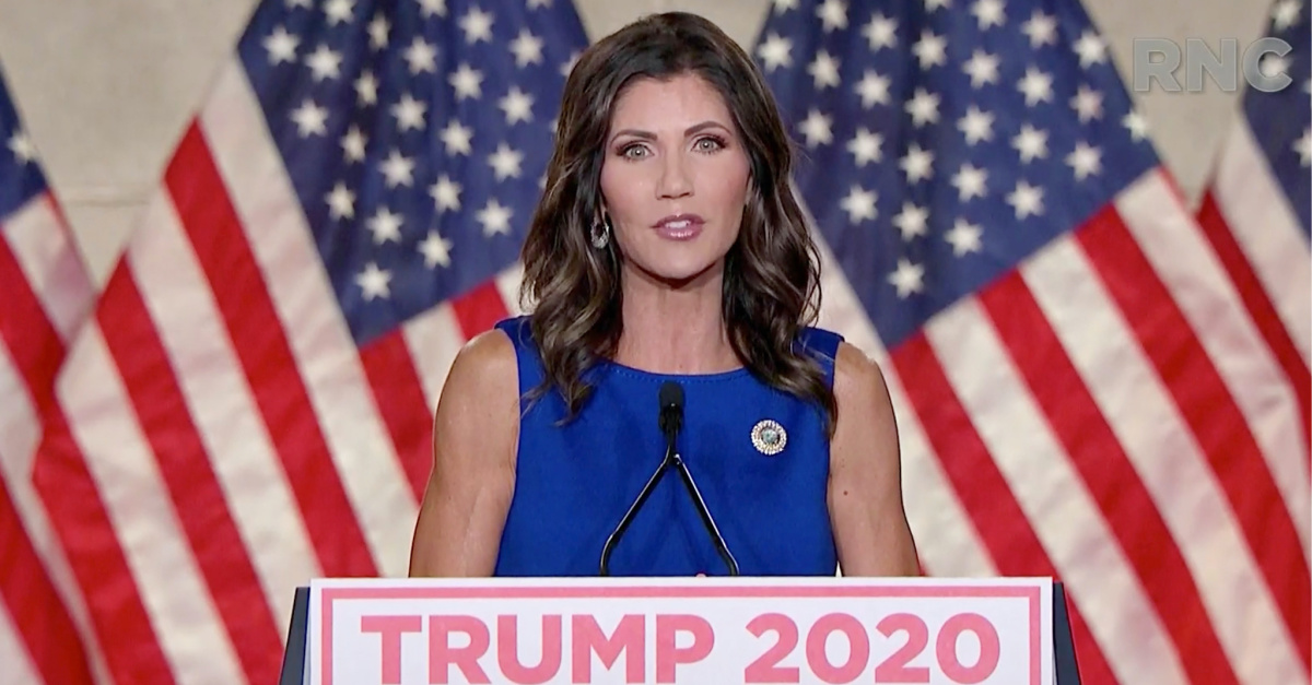 Kristi Noem, Noem asserts that God will send a healing processes to the US