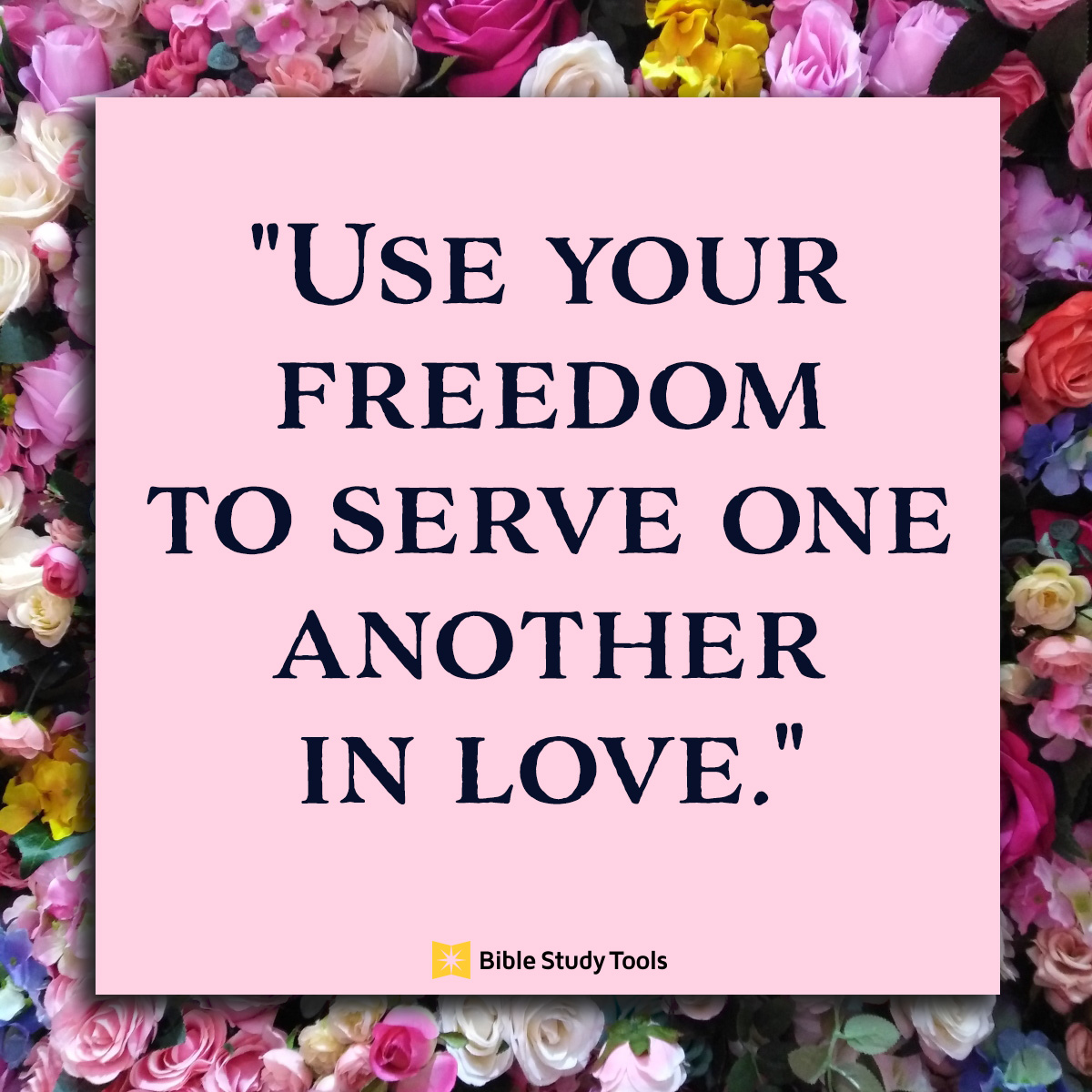Serve in love square image