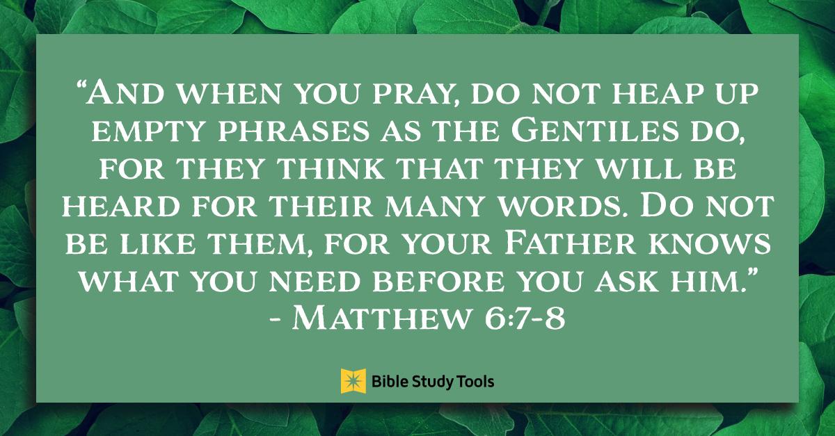 Matthew 6:8