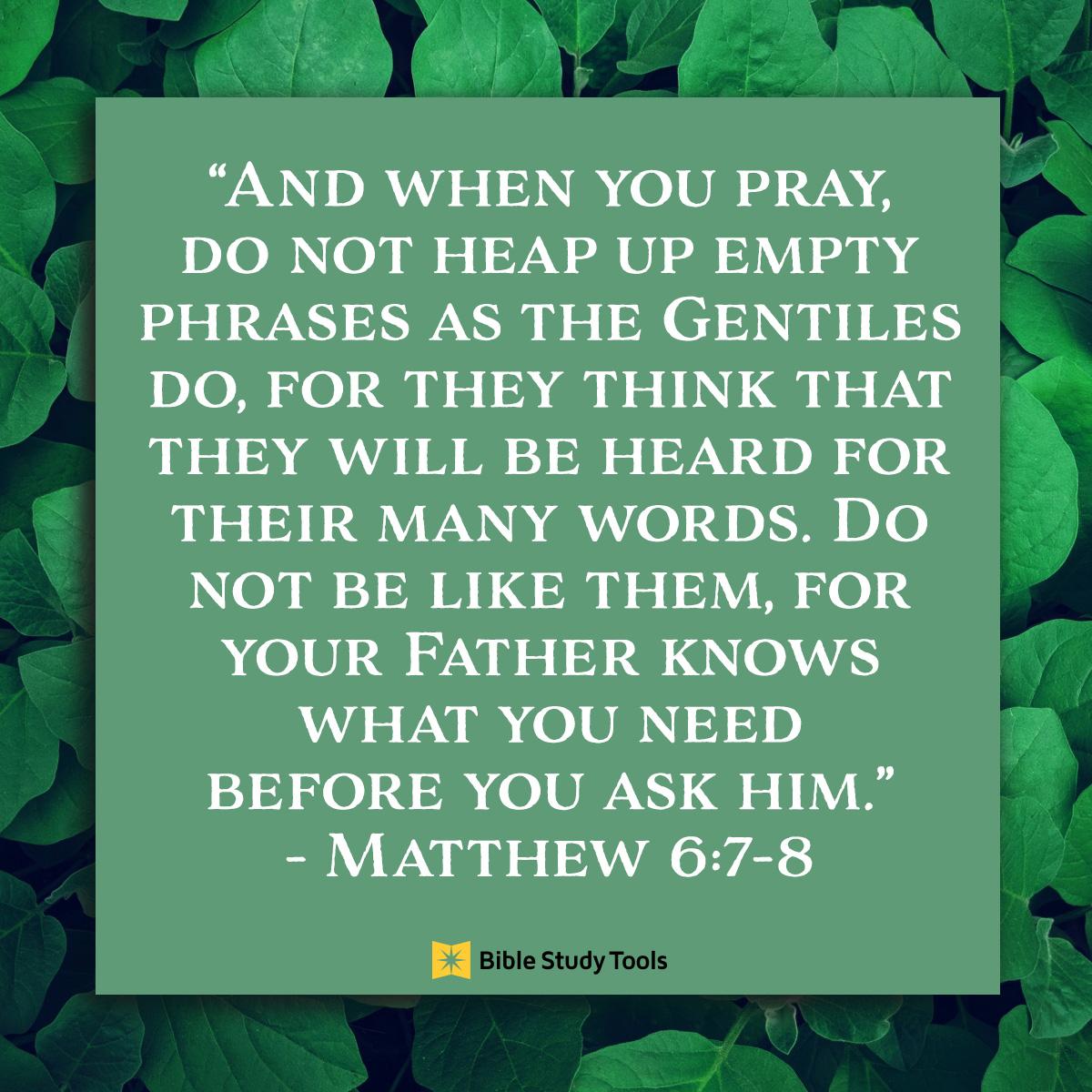 Matthew 6:7-8 sq