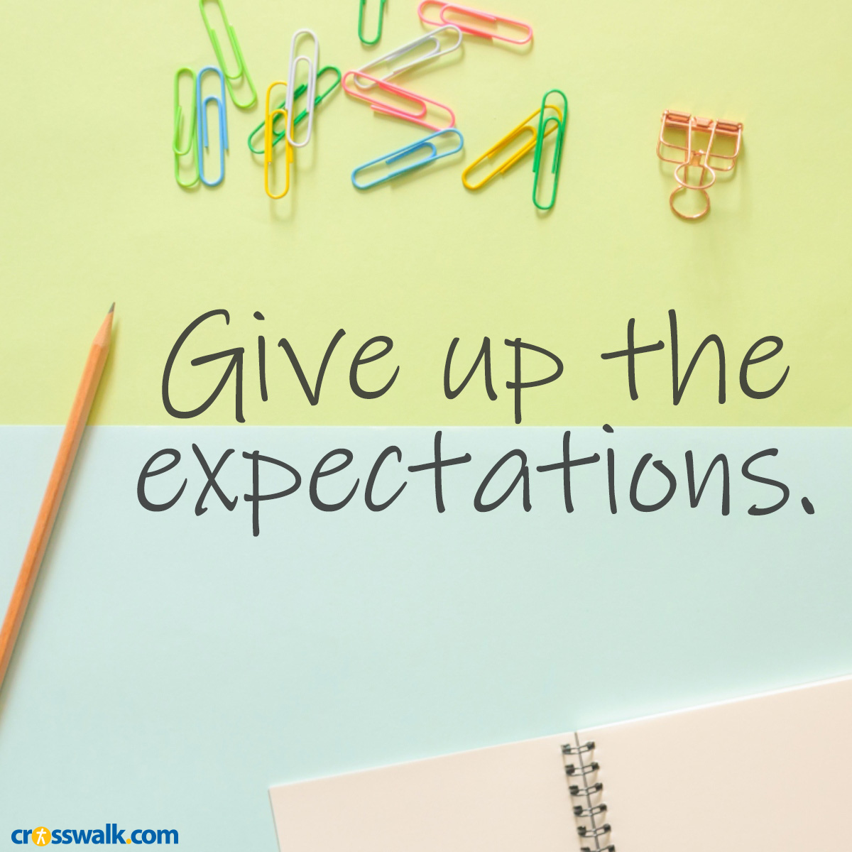 give up the expectations inspirational image