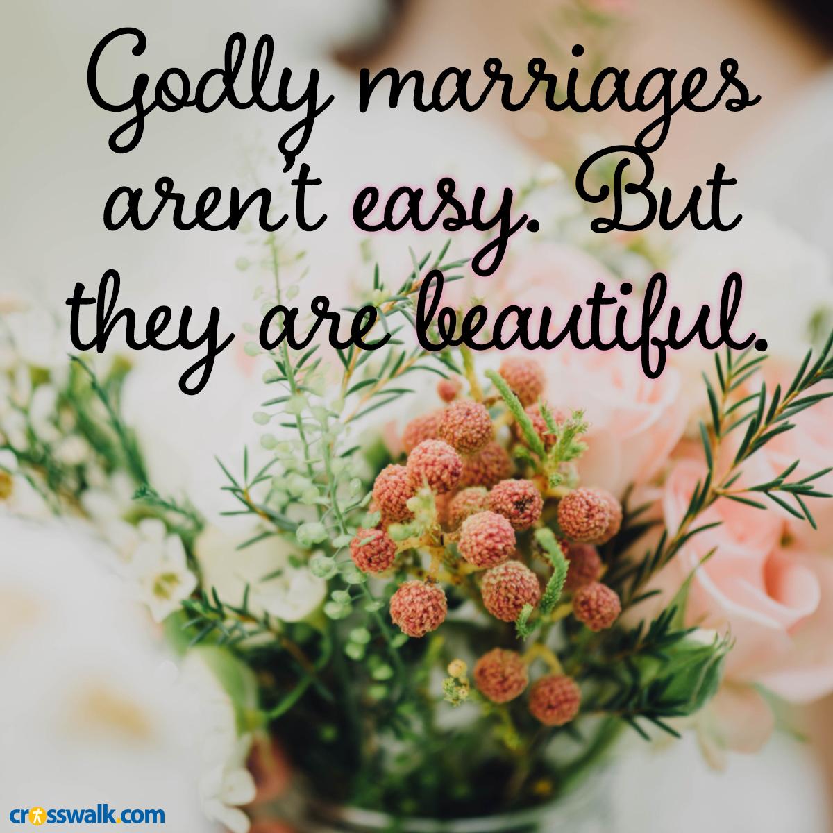 Godly marriage inspirational image
