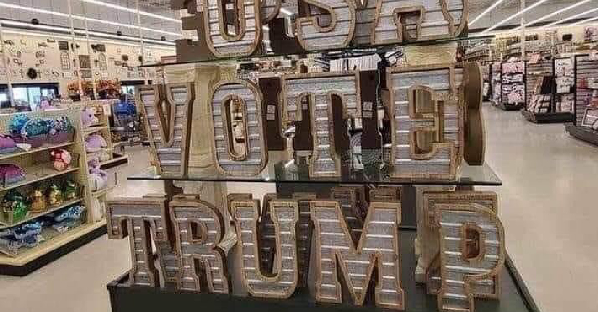 #BoycottHobbyLobby Trends over 'Vote Trump' Display