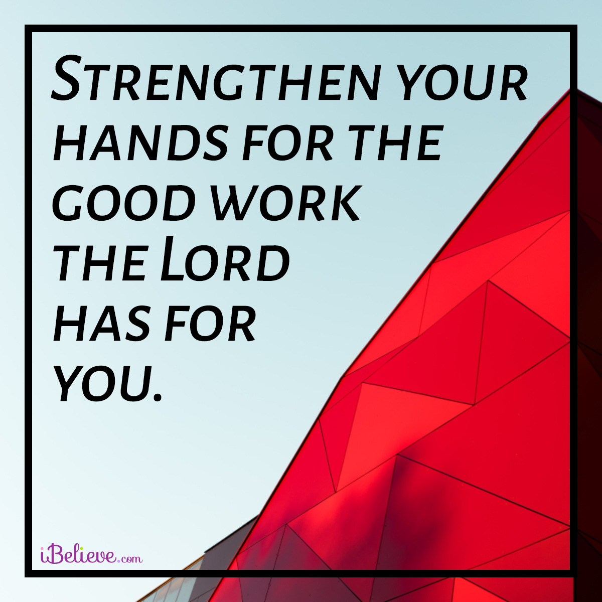 inspirational image about strength in God