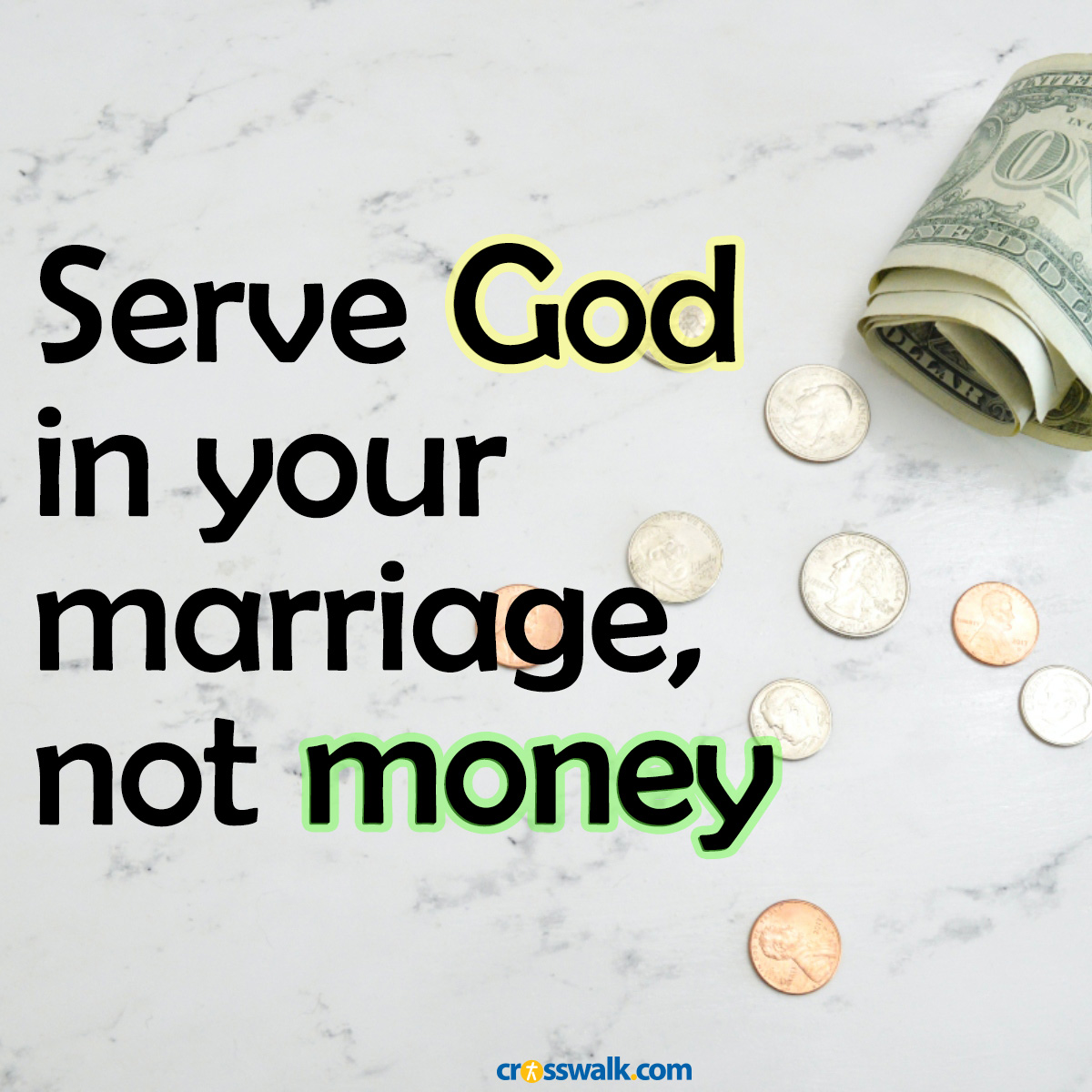 Serve God not Money Square