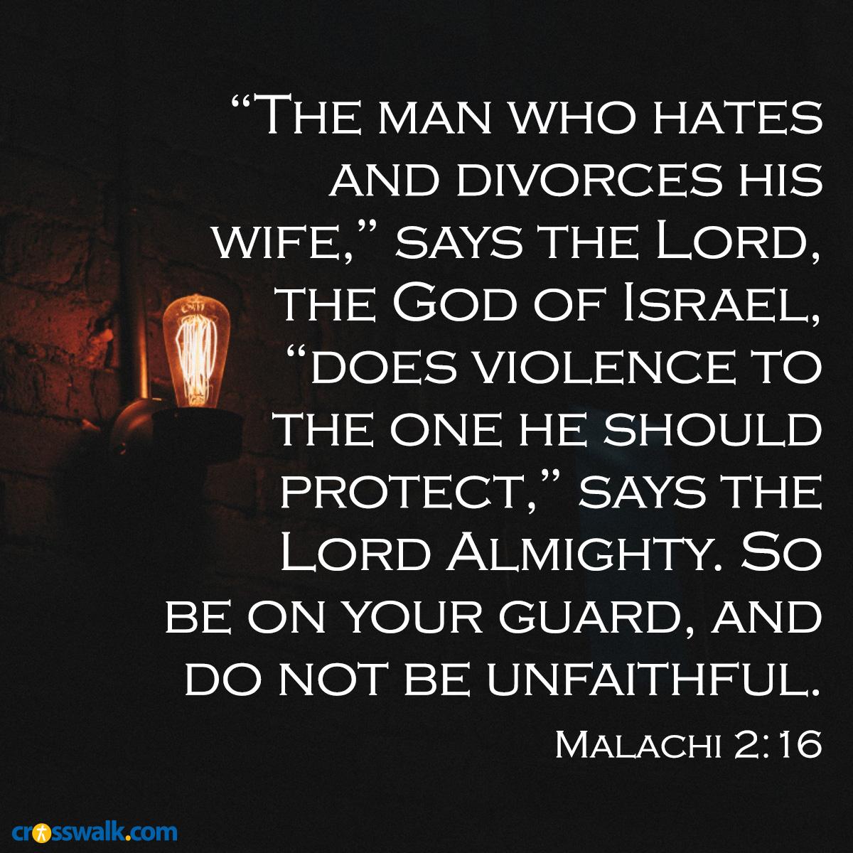 Malachi 2:16 sq