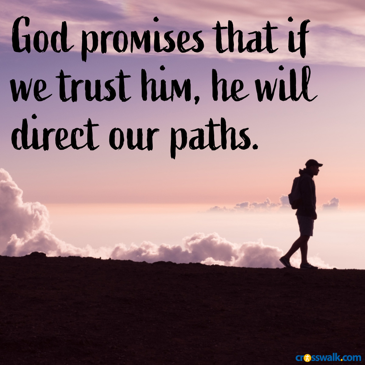 God will direct our paths, inspirational image
