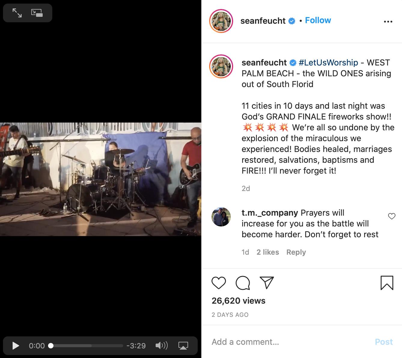 Sean Feucht Instagram