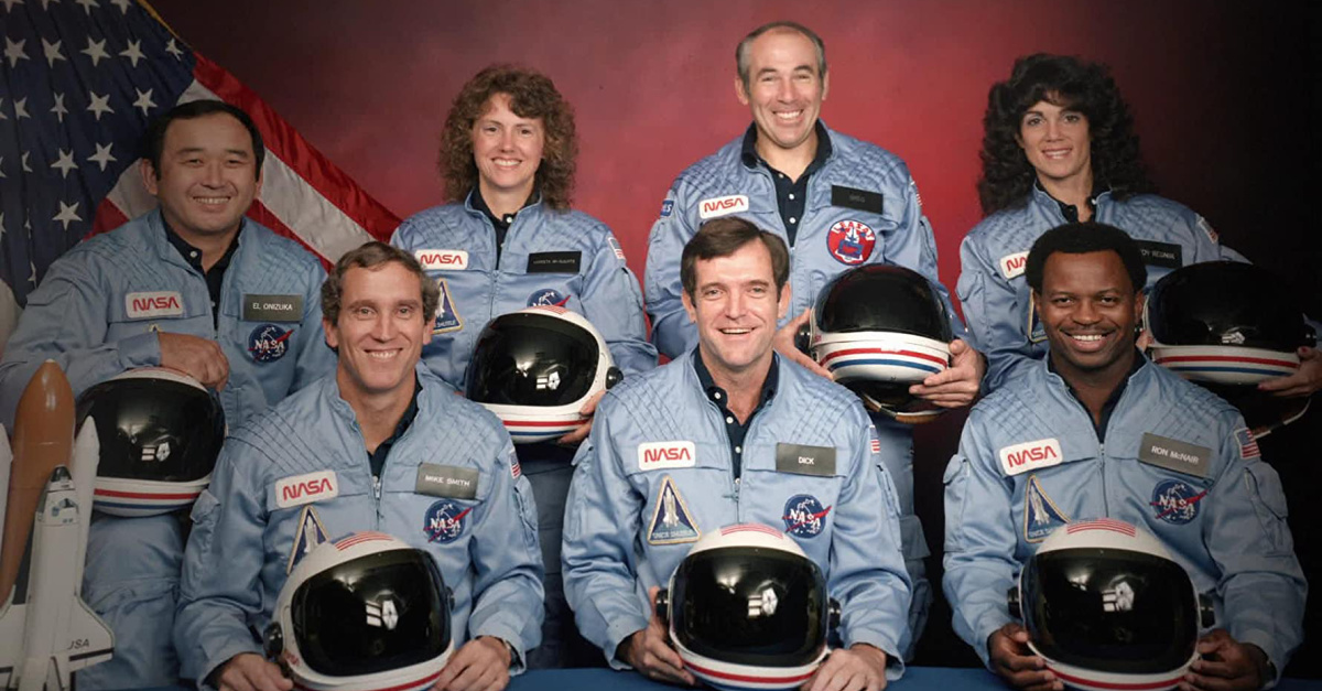 Image of astronauts from the Challenger