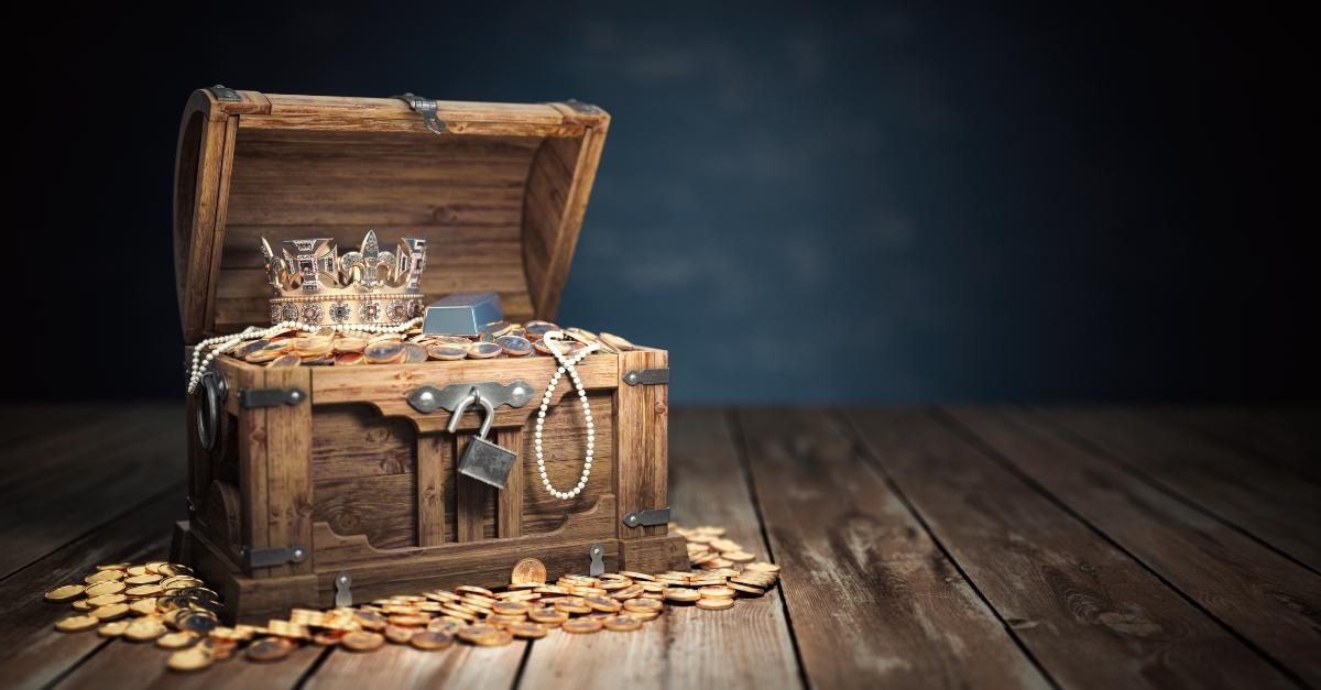 Box of treasure and gold