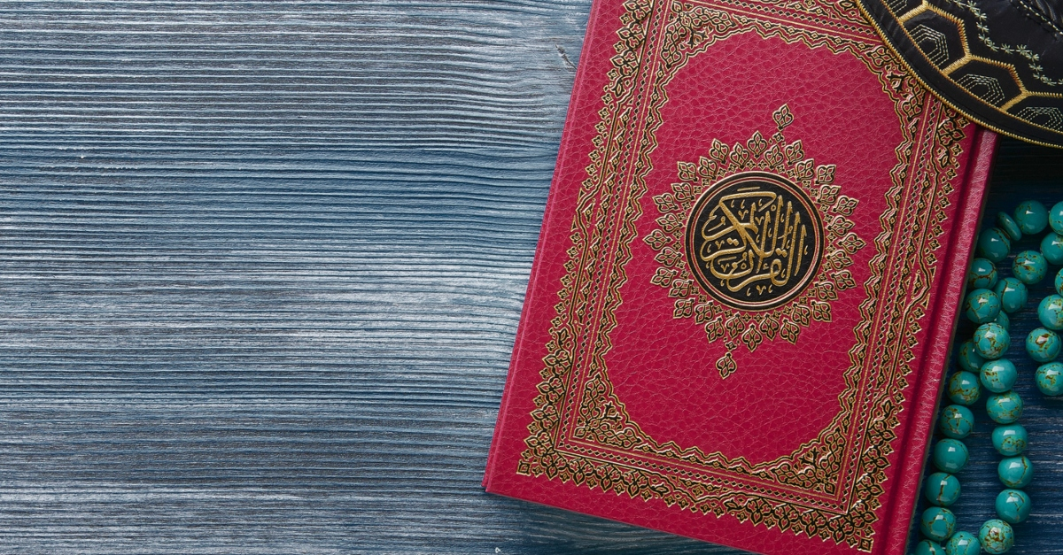 Quran with rosary beads