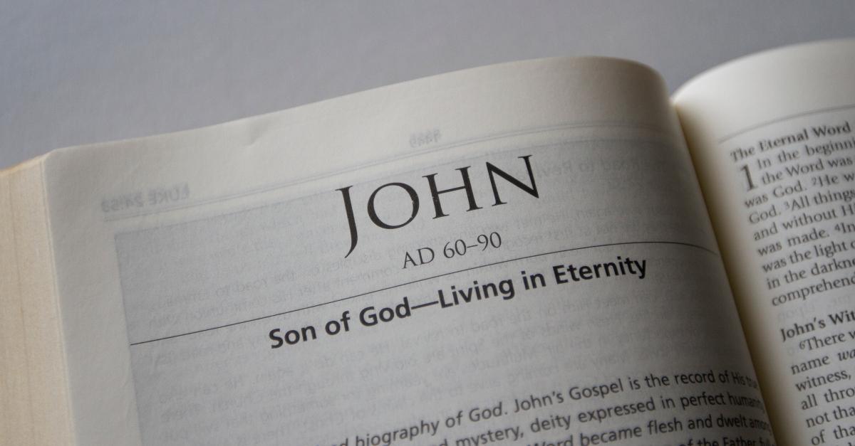 bible open to book of john