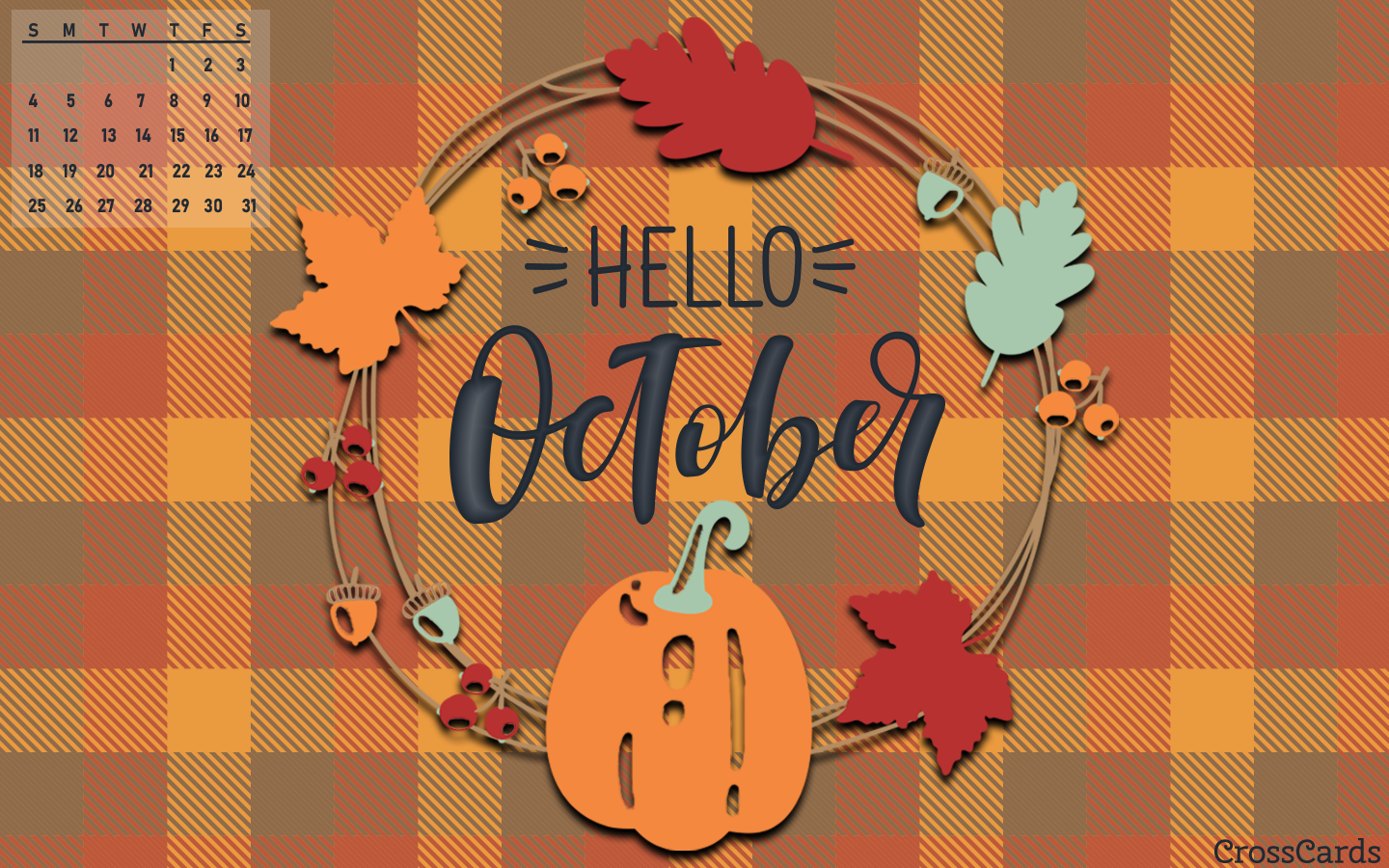 October 2020 - Hello October mobile phone wallpaper