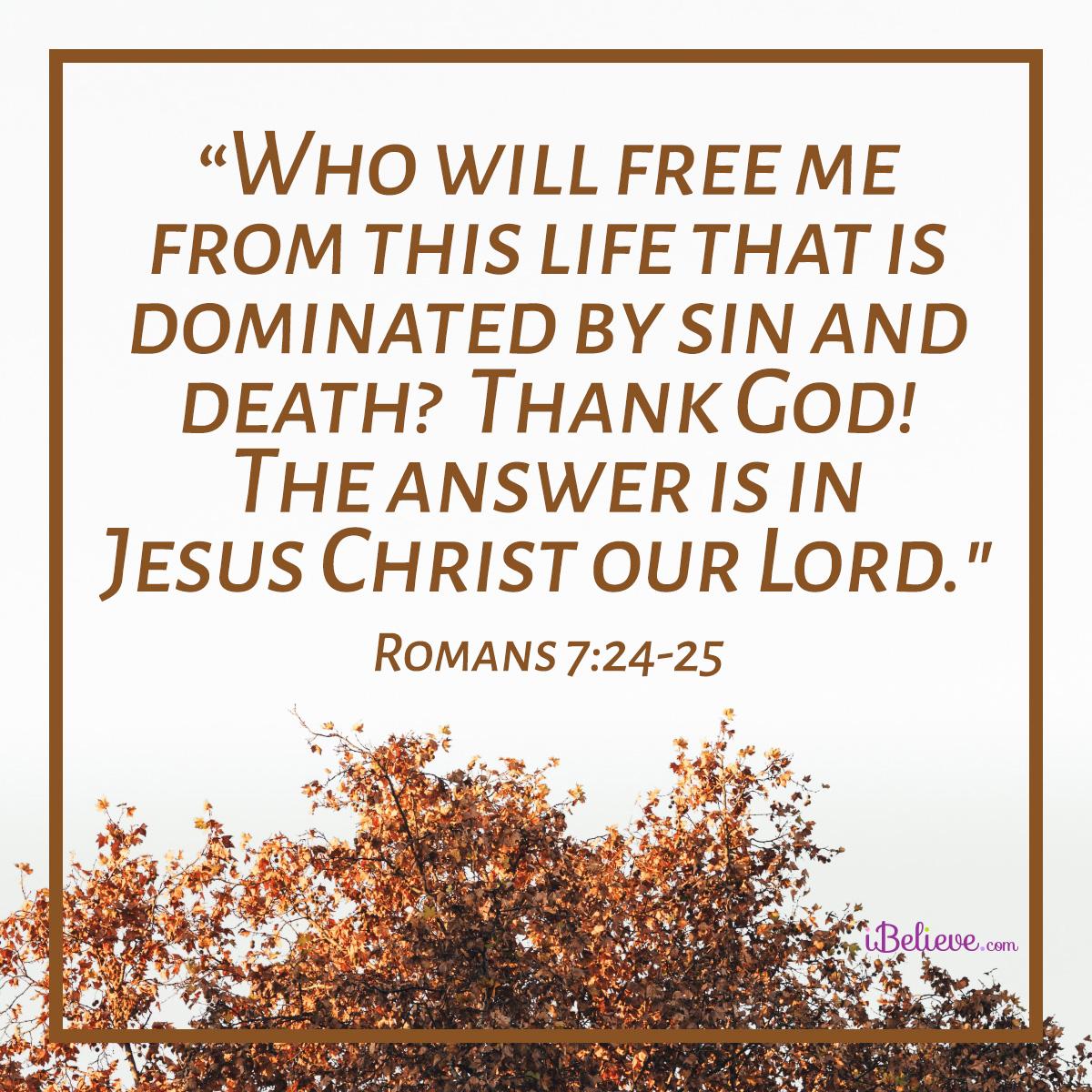 Romans 7:24-25 sq