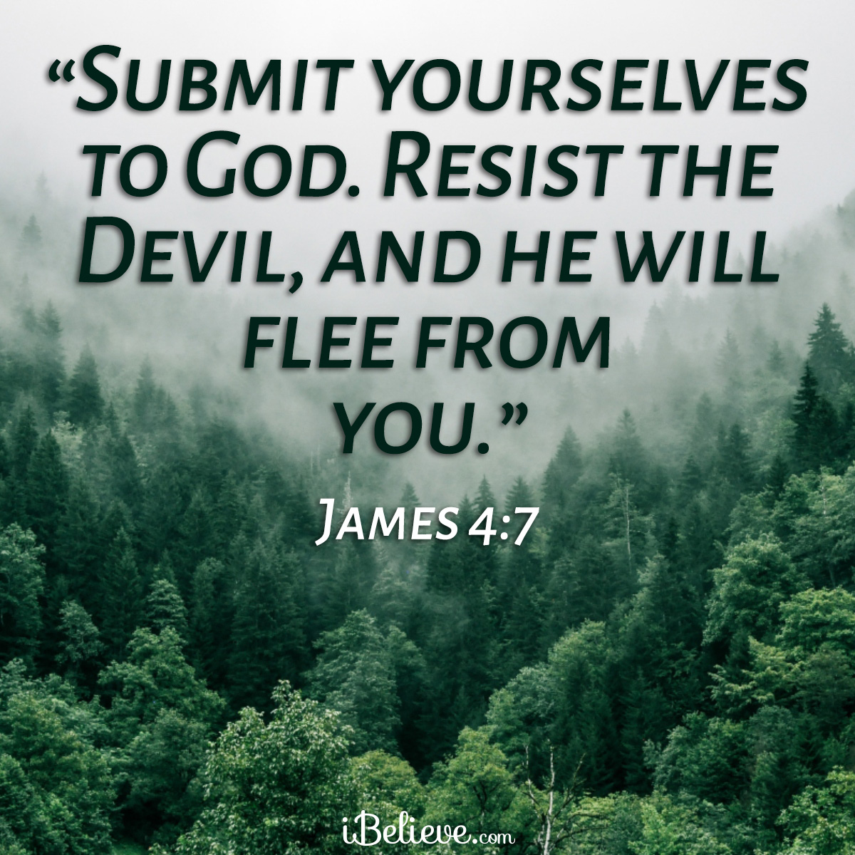 James 4:7 inspirational image