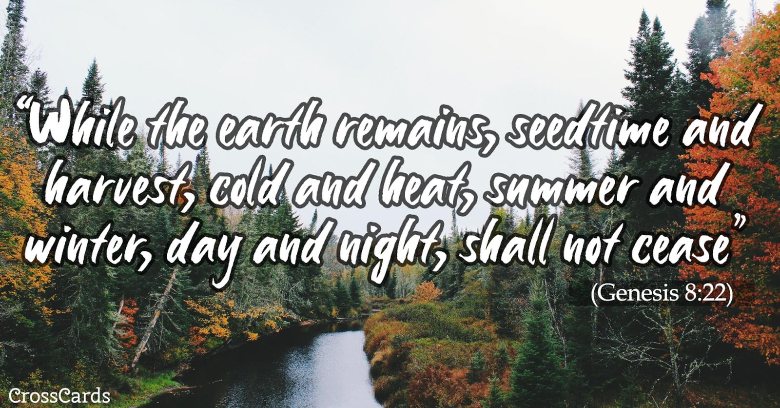 Genesis 8:22 ecard, online card