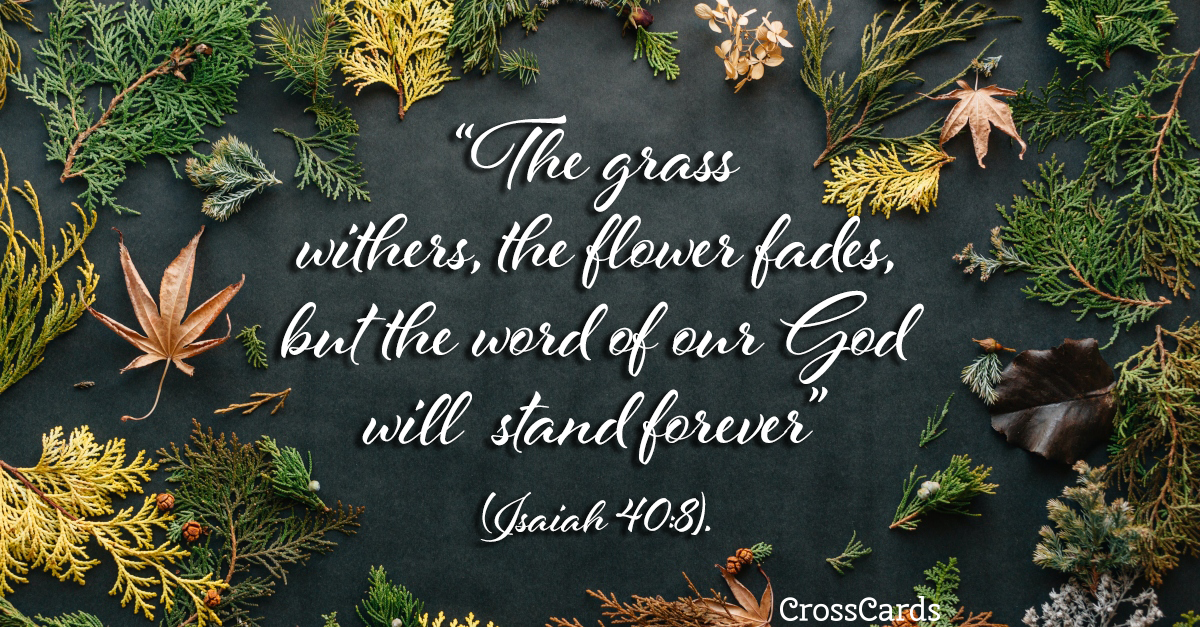 Isaiah 40:8 - The Word of the Lord ecard, online card