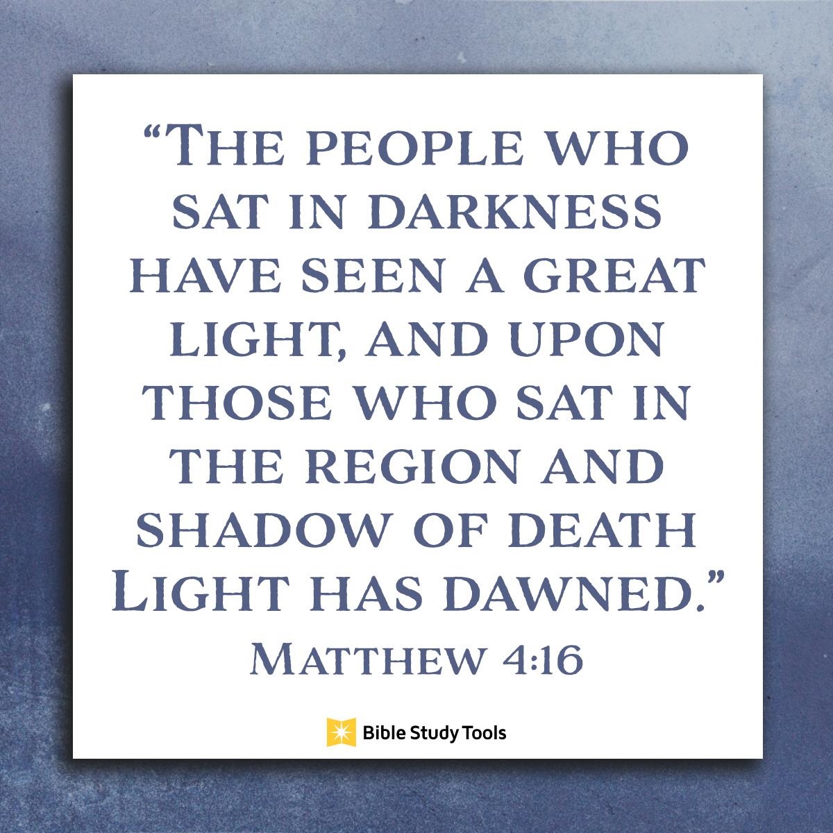 Matthew 4:16