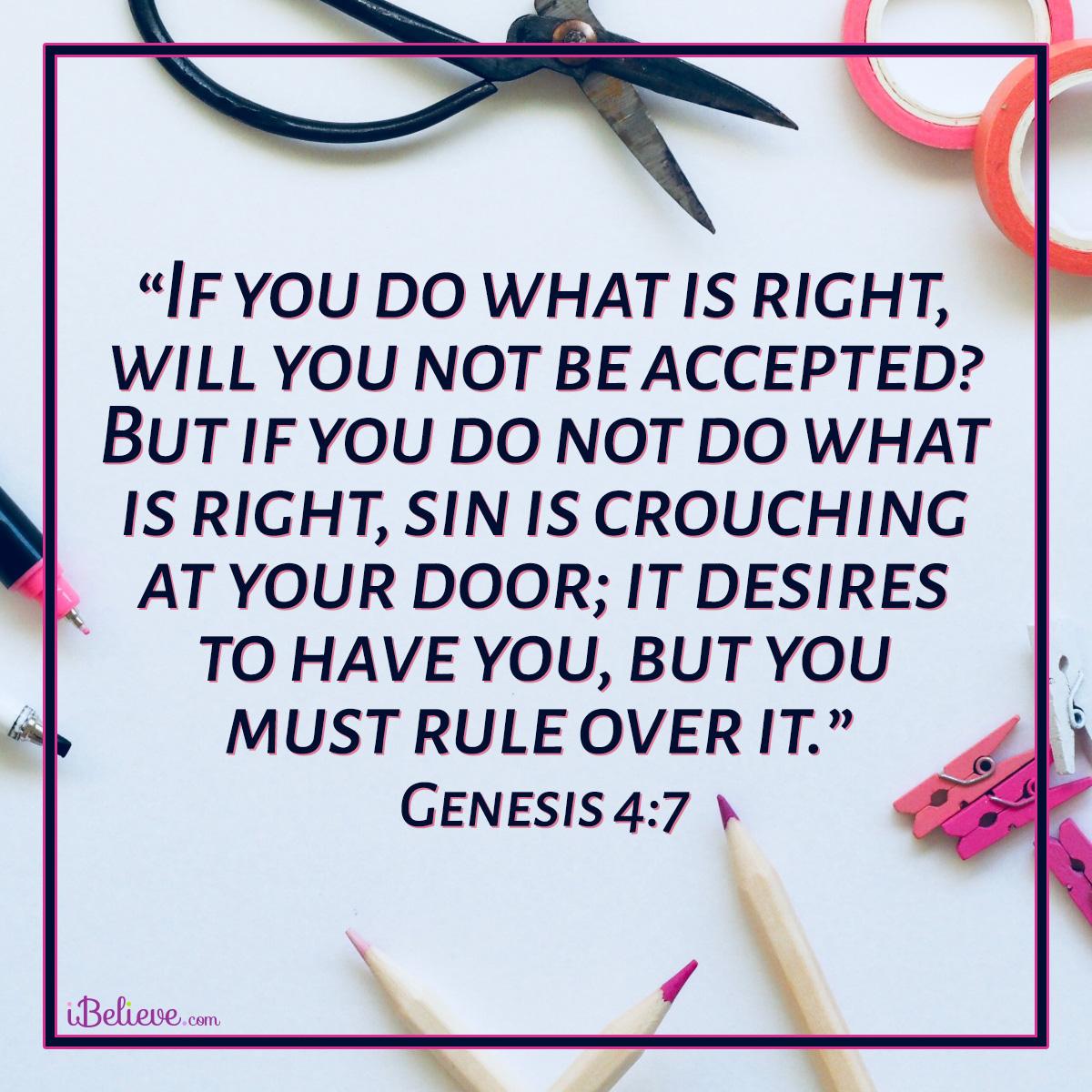 Genesis 4:7, inspirational image