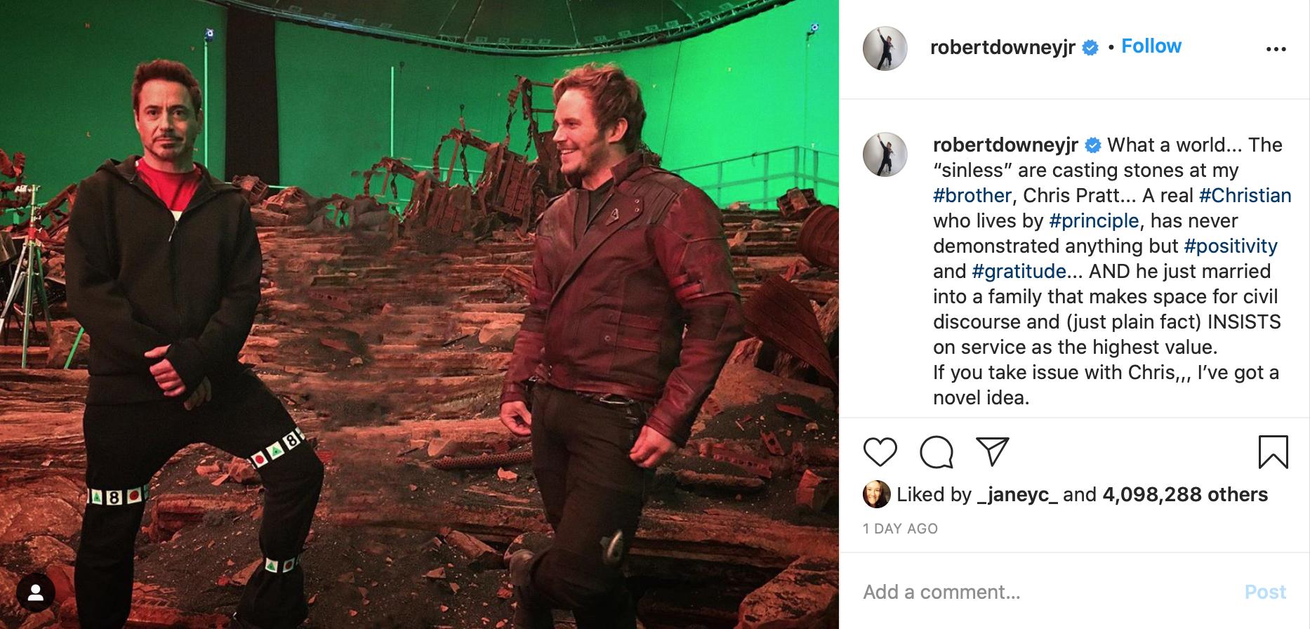 Robert Downey Jr y Chris Pratt