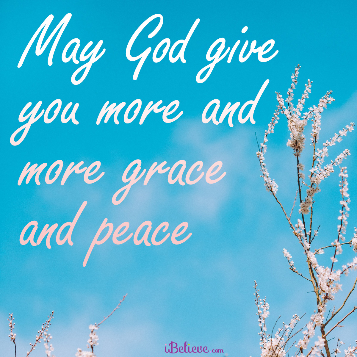 more and more grace and peace