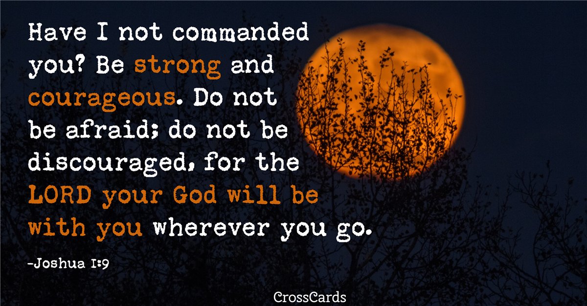 Your Daily Verse - Joshua 1:9
