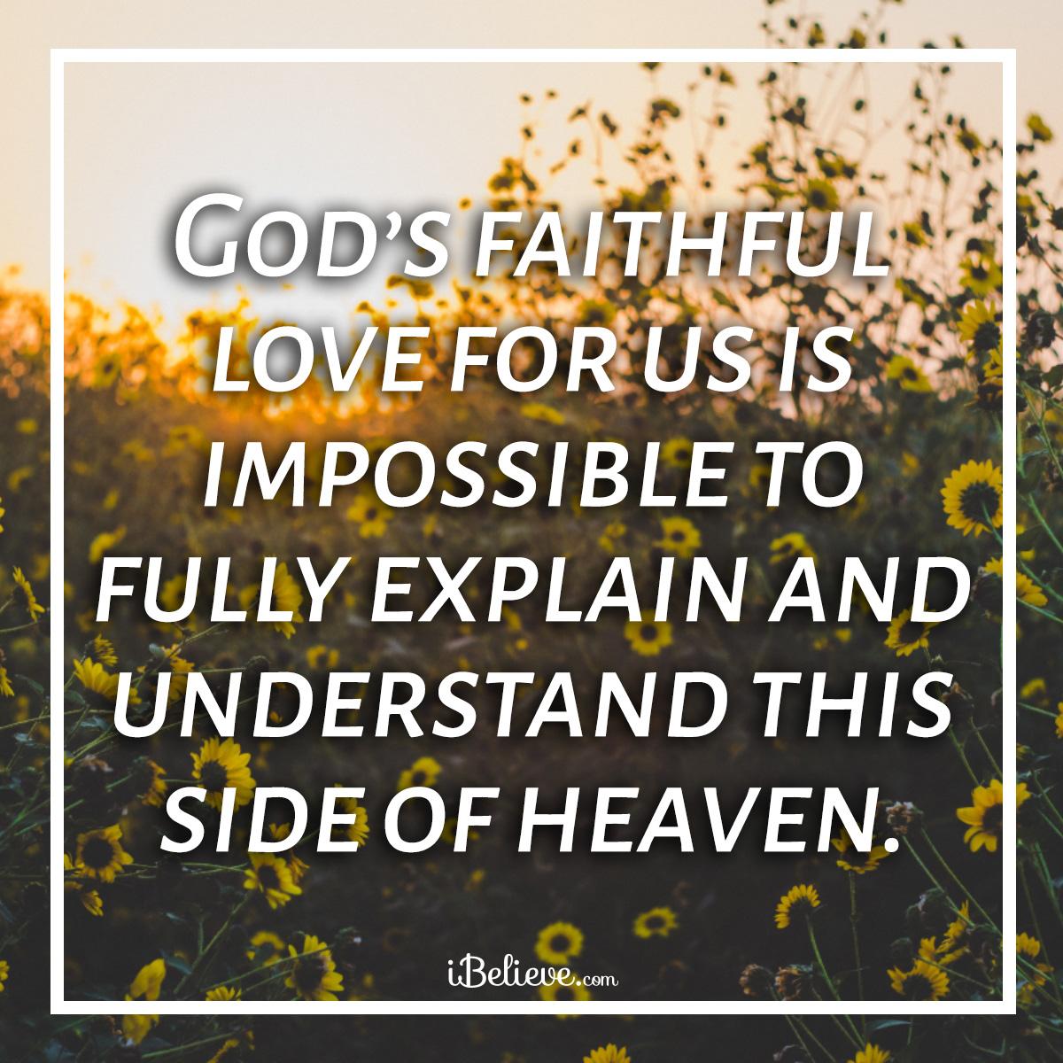 Gods faithful love