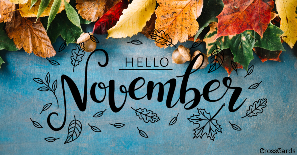 Welcome November! ecard, online card