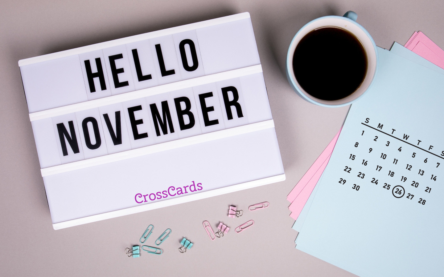 November 2020 - Hello November mobile phone wallpaper