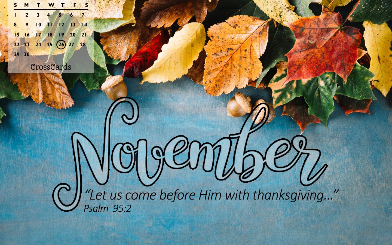 November 2020 - Thanksgiving mobile phone wallpaper