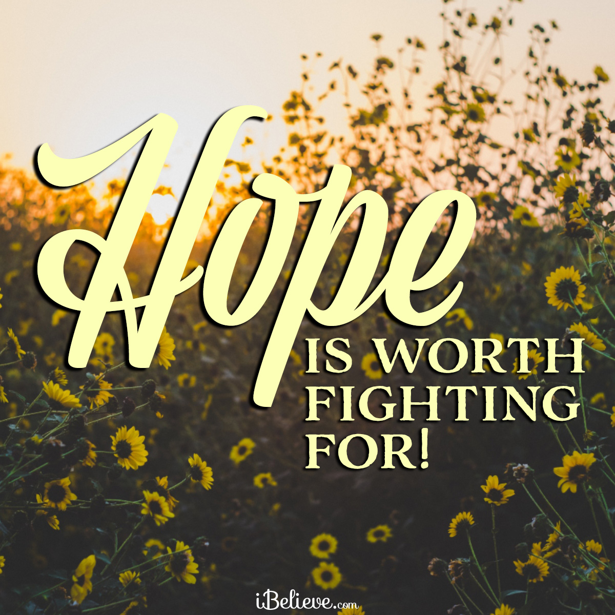 Hope is worth fighting for