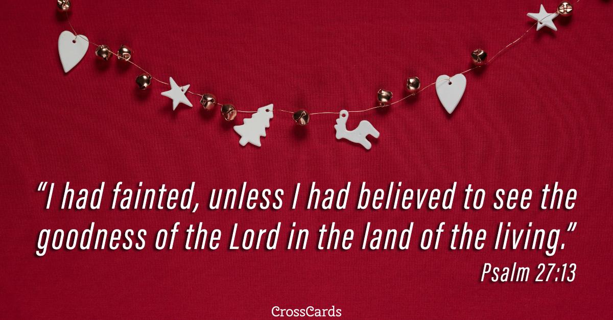 Psalm 27:13 ecard, online card