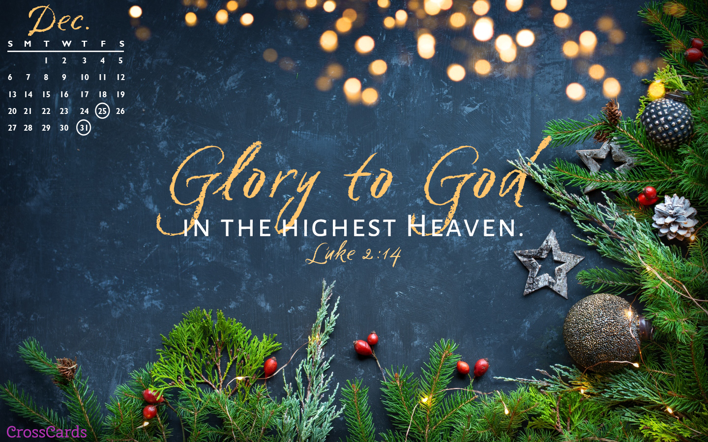 December 2020 - Glory to God mobile phone wallpaper