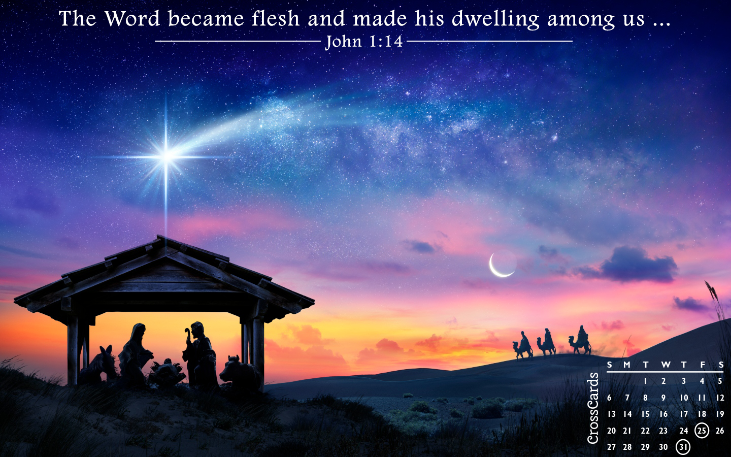 December 2020 - Nativity mobile phone wallpaper