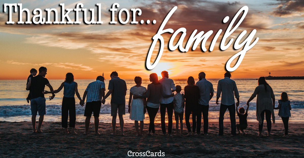Thankful for Family ecard, online card