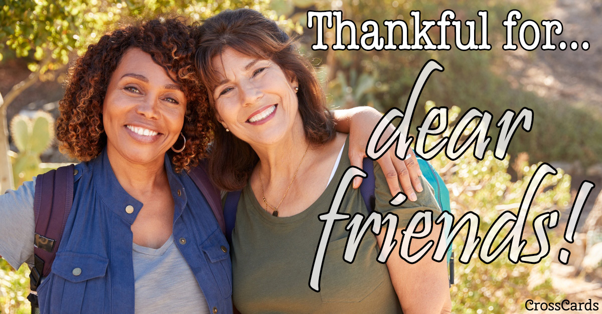 Thankful for Friends ecard, online card