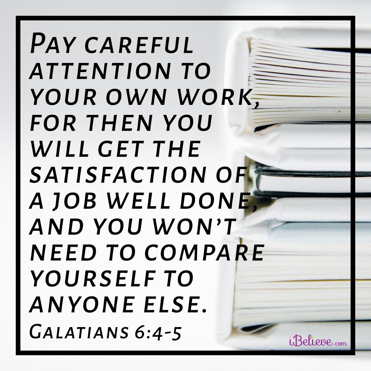 Galatians 6:4-5 square image