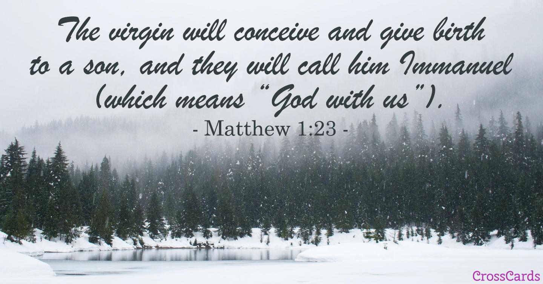 Matthew 1:23 ecard, online card